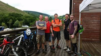 Mountain bike visitors at Glyncorrwg in June 2016